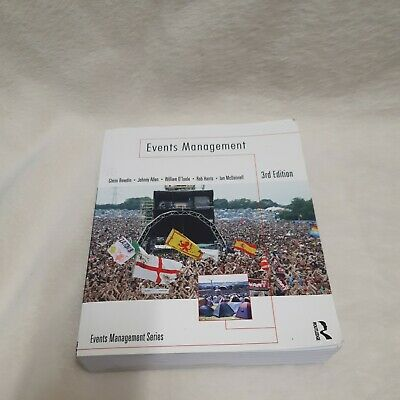 £17.81 • Buy Events Management By William O'Toole, Johnny Allen, Glenn A. J. Bowdin, Ian(BB2)