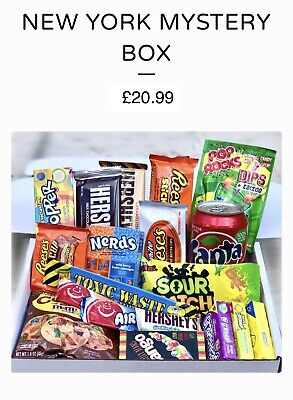 £19.99 • Buy American Candy, Sweets Chocolate Snacks & Drinks Assortment Box!
