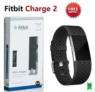 $ CDN91.86 • Buy Fitbit Charge 2  HR Fitness Watch Activity Tracker FB160SBBKS Sport Black Small