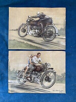 £1774.56 • Buy HRD Vincent Motorcycle Sales Brochure 1946 RC ReyRolles Original