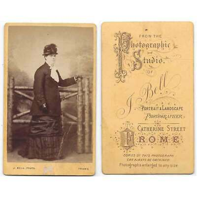CDV Victorian Lady Carte De Visite Photograph By Bell Of Frome • 3.95£