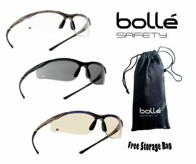 Bolle CONTOUR Stress/fog/UV Resistant Safety Glasses With Clear Lenses - CONTPSI • 9.99£