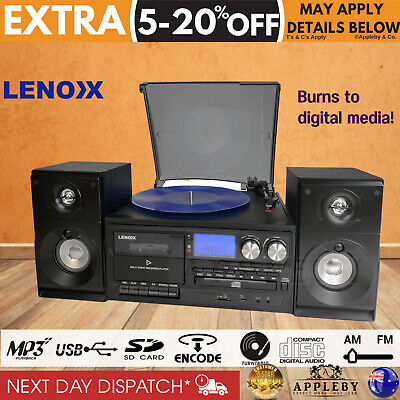 AU262.55 • Buy Stereo System Turntable Vinyl Record Player Cassette Recorder CD Bluetooth USB