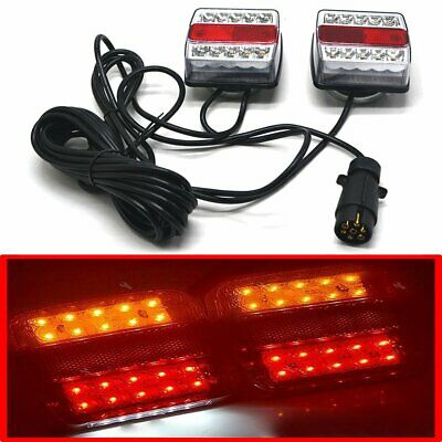 £25.99 • Buy 12V Magnetic LED Trailer Lights Towing Rear Tail Board Lamps Stop Car+7.5M Wire