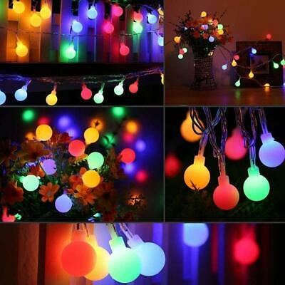 LED Globe Bulb Ball Fairy String Lights Mains Plug In Garden Outdoor Indoor Xmas • 15.89£