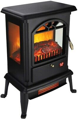 Ecological Electric Stove Fireplace Energy Saving LED Fire Heater Burning Logs • 69.90£