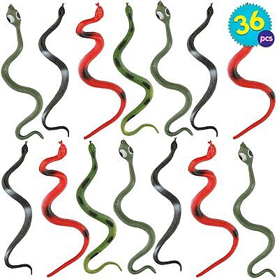 36 Pack Fake Snakes Halloween Prank Haunted House Decor Toy Rubber Snakes Props • 10.49£