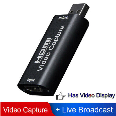 HDMI TO USB 2.0 Video Capture Card Adapter 1080P HD Recorder Box Fits Window • 6.29£