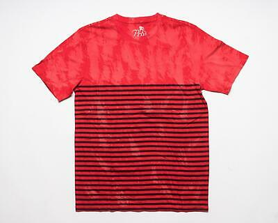 PRPS Goods & Co. NWT Red Bleached Black Striped Cotton T-Shirt Tee Shirt M • 49.34£