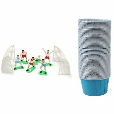£6.40 • Buy 50X Paper Baking Cup Cake Cupcake Cases Blue & 8PCS Soccer Football Cake To S9Z5