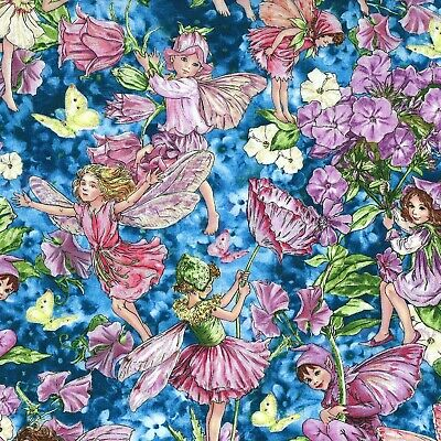 £4.70 • Buy Michael Miller Fabric - Fairy Whispers - Blue - 100% Cotton - Multiple Sizes