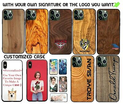 AU13.50 • Buy For Samsung Galaxy S8/S8+/S9/S9+ Personalized Case Wood Grain Signature Cover