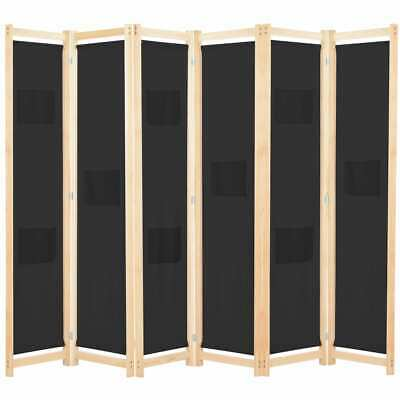 AU91.95 • Buy Large Room Divider Wood Frame Fabric Dressing Screen Privacy Stand 6 Panel 240cm