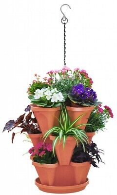 £13.99 • Buy STRAWBERRY PLANTER STACKERS - Garden Hang Plant Herb Large Stackable Plastic Pot