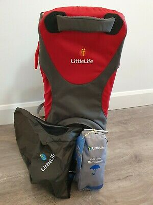 Littlelife Cross Country S3 Child Carrier-Red & Grey/With Sunshade & Rain Cover • 120£