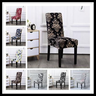 £3.99 • Buy UK Universal Stretch Solid Color Dining Chair Covers Seat Slipcover Party Decor
