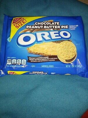 Oreo Chocolate Peanut Butter Pie Sandwich Cookies, 1 - 17 Oz Family Size Pack • 8.22£