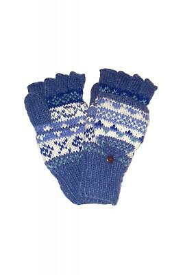 Sustainable Fair Trade Finisterre Natural Wool Glove / Mittens Denim Blue  • 14.95£