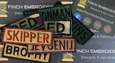 Name Tape Custom Morale Patch Official VELCRO® Backed FREE POSTAGE Personalised • 7.99£