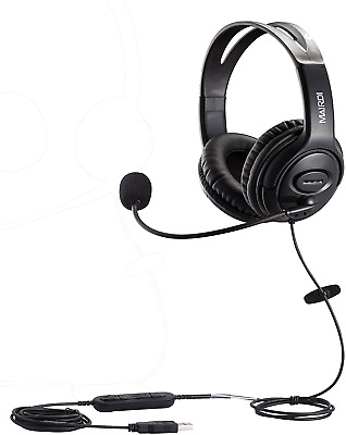 USB Headset With Noise Cancelling Microphone For Call Center Skype Chat Computer • 43.06£