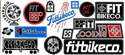 £4.95 • Buy Fit Bike Co BMX Sticker Sheet - 15 Stickers - Size 23cm Cycle New & Official
