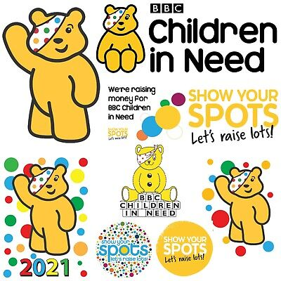 Children In Need - Iron On Tshirt Transfers - A6 A5 A4 • 1.97£