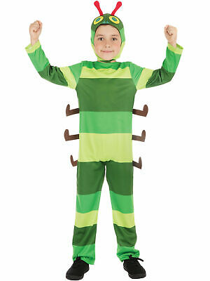 Kids Hungry Caterpillar Costume Bug Fancy Dress Boys Insect Girls Ages 4-12 Year • 10.99£