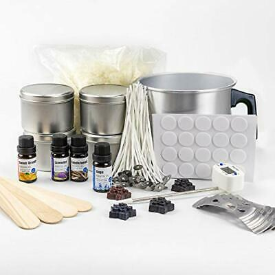 Candle Making Kit For Adults - Complete Package With Soy Wax (2.2 LB), 4 Premium • 52.99£