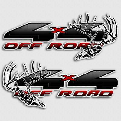 $39.99 • Buy 4x4 Black Truck Decal Deer Hunting Archery Skull Sticker For Ford F-150 Hoyt PSE