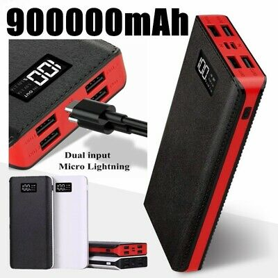 900000mAh Power Bank Portable 4USB Battery Charger IPhone Samsung Tablet Phone • 15.99£