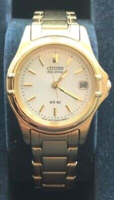 Ladies Citizen Eco Drive WR50 Gold Plated Watch • 72£