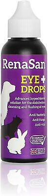 RenaSan Eye Drops 60ml  For All Animals Horses Dogs Cats Pets Reptiles • 10.99£