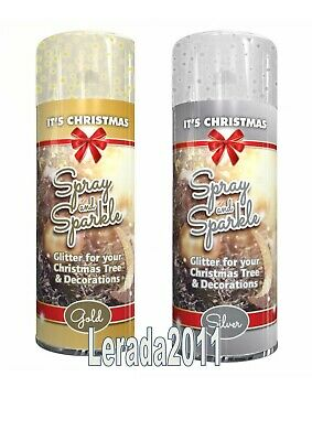Silver Glitter Gold Glitter White Spray Sparkle Decoration 1 Or 2 Cans Craft • 2.99£