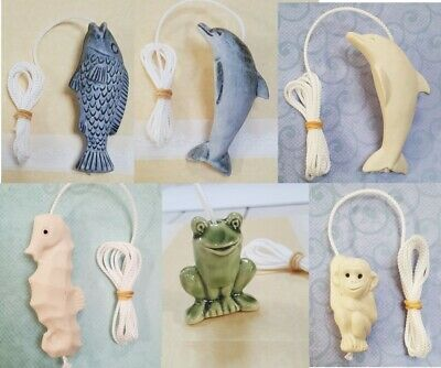Ceramic Light Pull With Cord Bathroom Blinds Curtains Decoration Nautical • 5.99£