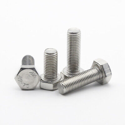 $11.04 • Buy M7 Hexagon Head Bolts 304 Stainless Steel Hex Head Screws Pitch 1.0