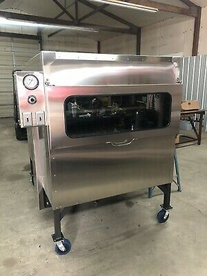"""$9000 • Buy Semo Smokers 48""""x48"""" Insulated Rotisserie LOOK AND COOK W/ This New Glass Door"""