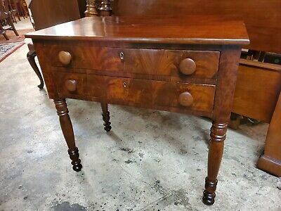 $565 • Buy Antique Flame Mahogany 2 Drawer Side Table – Very Nice Table