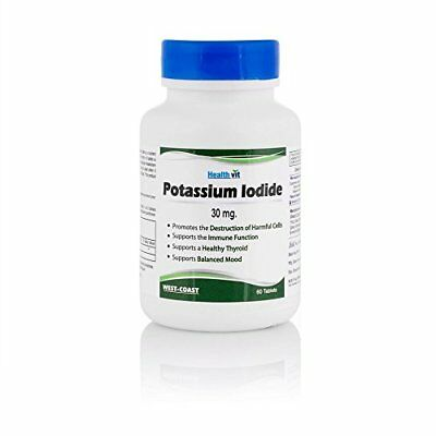Healthvit Potassium Iodide 30 Mg - 60 Tablets- Support For Thyroid-Free Shipping • 13£