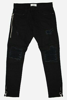 Mens VIDL Denim Motto Fit Rinse Black Jeans • 122.47£