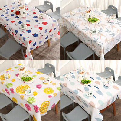 AU11.16 • Buy Waterproof Dining Table Cloth Wipe Clean Tablecloths PVC Kitchen Cover Protector
