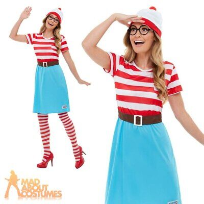 £27.99 • Buy Adult Ladies Wheres Wally Wenda Costume Book Day Week Womens Fancy Dress Outfit