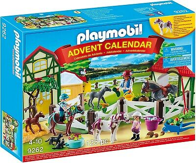 £33.25 • Buy Playmobil Advent Calendar 'Horse Farm' With Flocked Horse-Full Of Figurines NEW