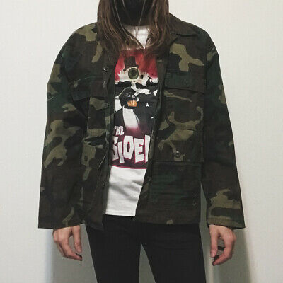 $35 • Buy Vintage Surplus Army Navy Military Issue Camo Urban Outfitters Coat Jacket XL