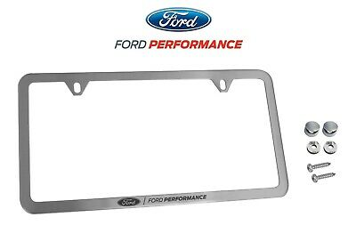 $34.95 • Buy Ford Performance License Plate Frame - Brushed Stainless Steel