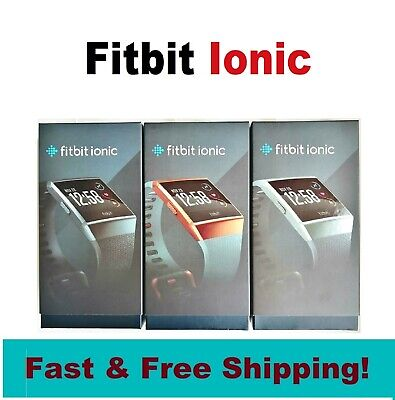 $ CDN165.70 • Buy NEW Fitbit IONIC Smartwatch Activity Tracker Charcoal/Gray Blue/Orange (S And L)