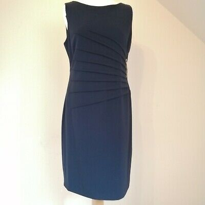 $ CDN42.32 • Buy IVANKA TRUMP Navy Sleeveless Stretch Lined Pencil Dress Zip Side Detail Size 12