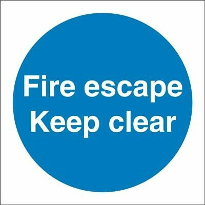 Castle Promotions Fire Escape Keep Clear Sign - Self Adhesive Vinyl - 100mm X 10 • 7.99£