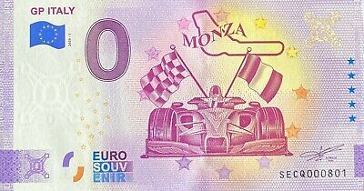 Ticket 0 Euro Gp Italy Monza Italy 2020 Number 801 • 6.84£