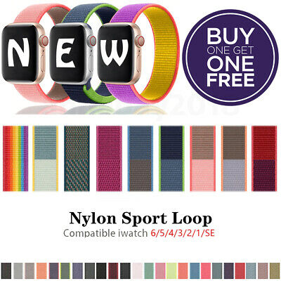 $1.99 • Buy Nylon Sport Band Loop For Apple Watch IWatch Series SE/6/5/4/3/2/1 44/42/40/38mm