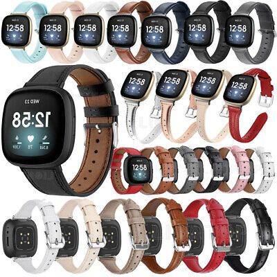 $ CDN13.66 • Buy NEW Genuine Leather Watch Wrist Band Straps For Fitbit Versa 3 Sense Bracelet